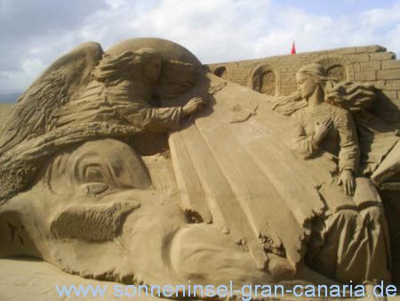 Sandkrippe auf Gran Canaria