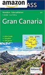 Karte zum Wandern und Radfahren mit Kurzführer, Stadtplänen und Radwegen auf Gran Canaria